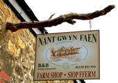 Sign to Nant gwyn faen